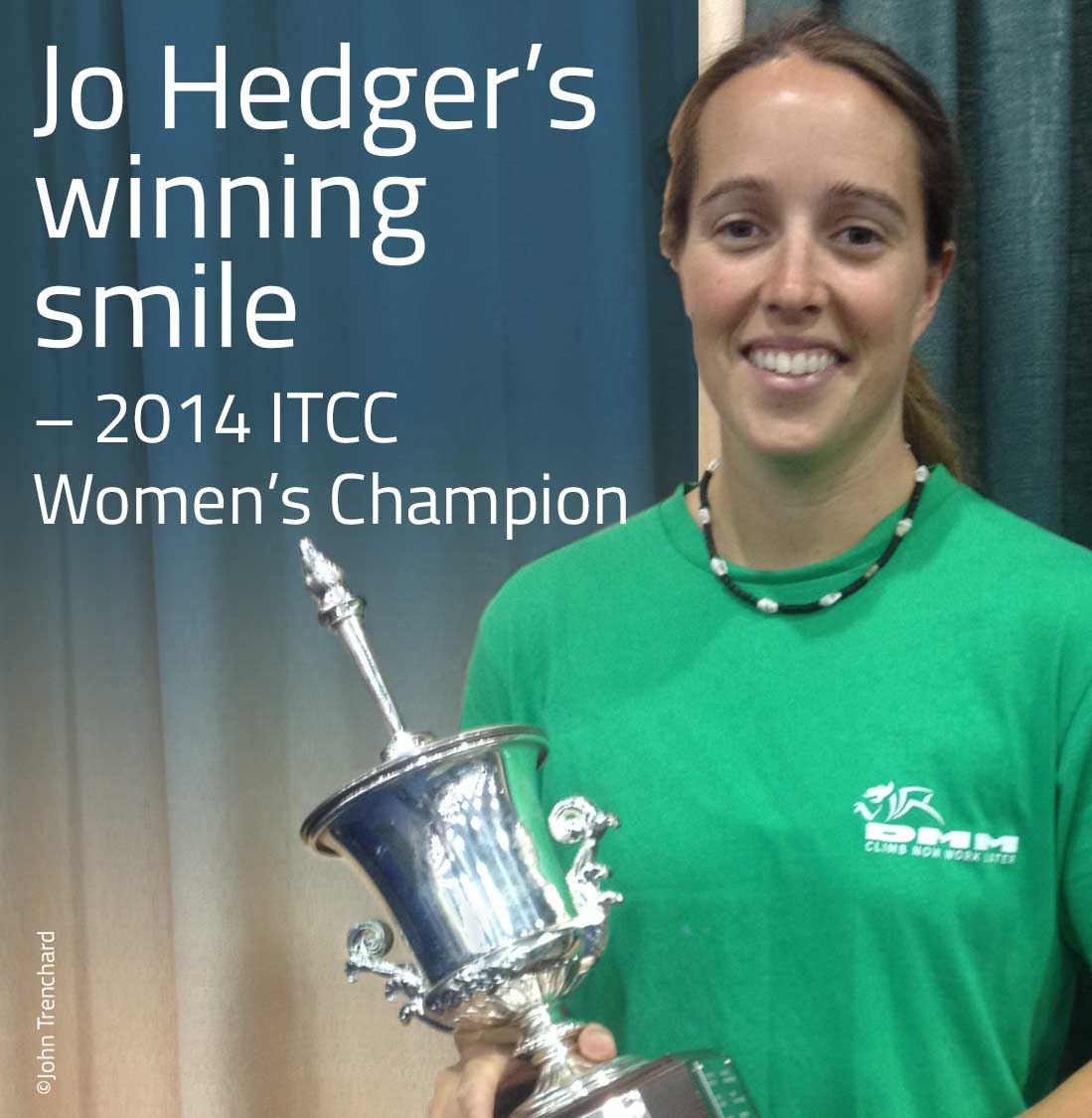 Jo Hedger's winning smile - 2014 ITCC Women's Champion. (John Trenchard)