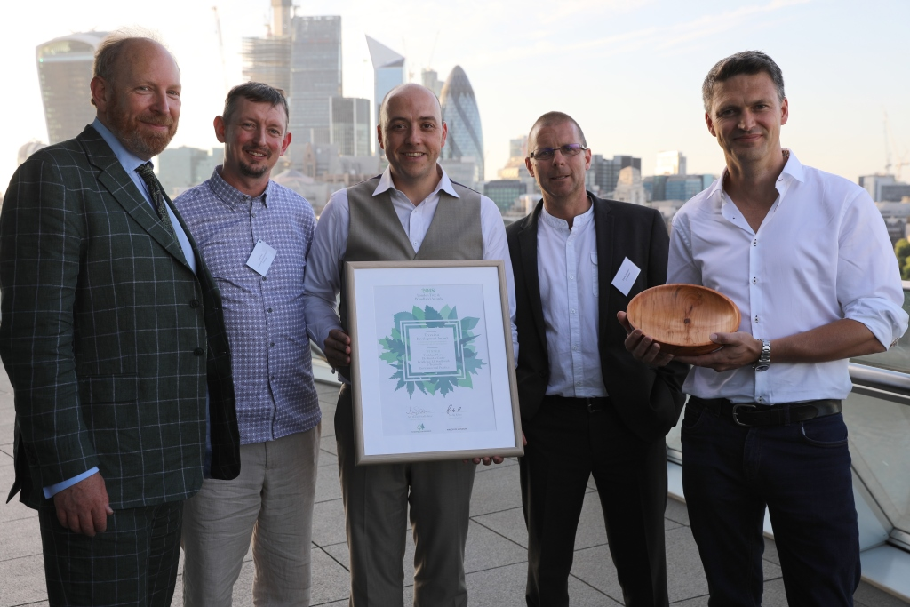 Managing Director Luke Fay (second from left) with his successful Treework Environmental Practice team following the awards ceremony on Tuesday evening