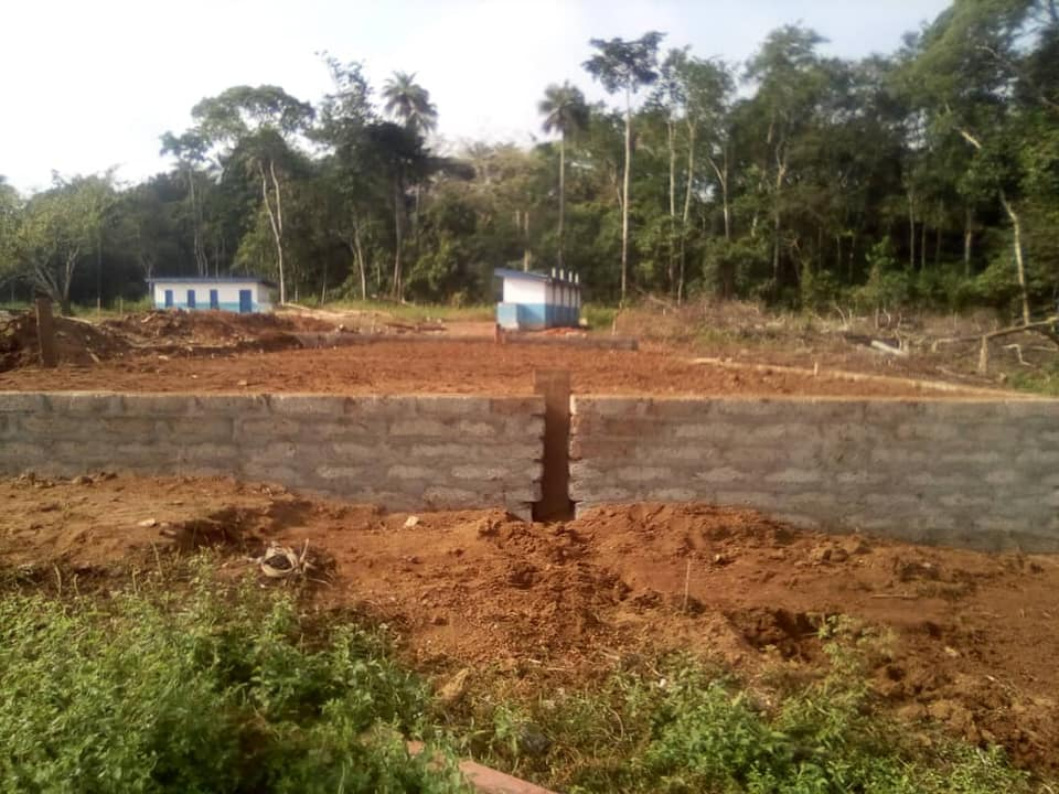 Foundations for new school building