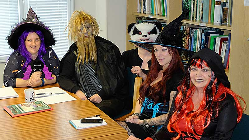 AA Head Office staff getting into the spirit of Halloween