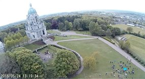Williamson Park, Lancaster, minutes after weather balloon launch