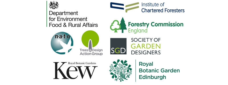 Partners: Institute of Chartered Foresters, Forestry Commission, NATO, Society of Garden Designers, TDAG and Kew Royal Botanic Gardens