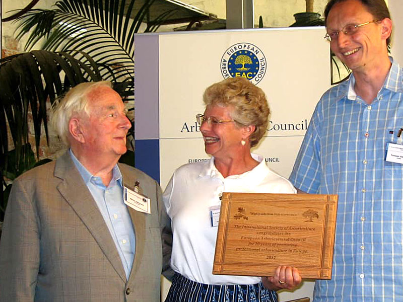 Bill Matthews receiving an Award