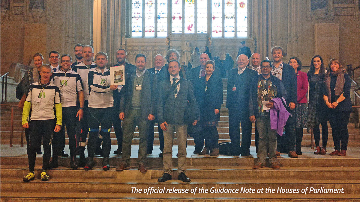 The official release of the Guidance Note at the Houses of Parliament