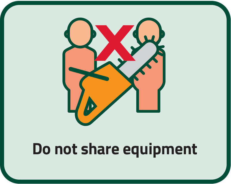 Do not share equipment