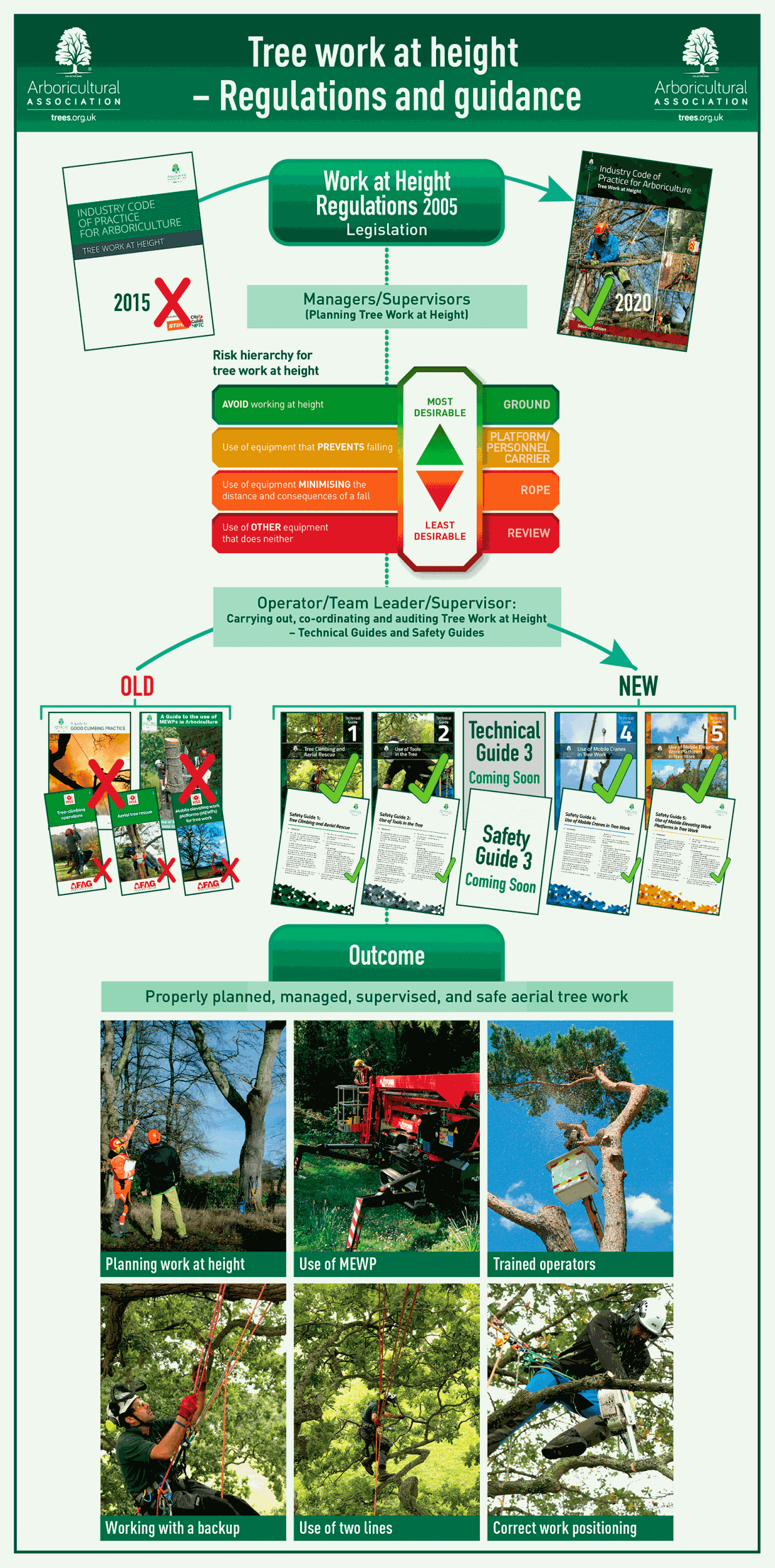 Tree work at height – Regulations and guidance