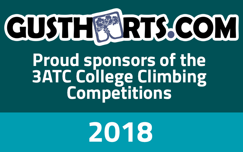 Gustharts Proud Sponsors of the 3ATC College Climbing Competitions 2018