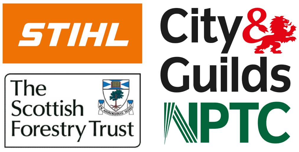 ICoP supporters, STIHL, The Scottish Forestry trust and City & Guilds NPTC
