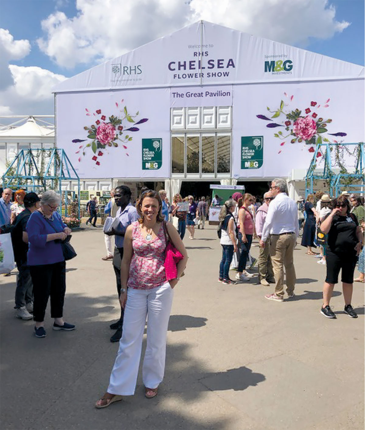 Jenny Long at the RHS Chelsea Flower Show